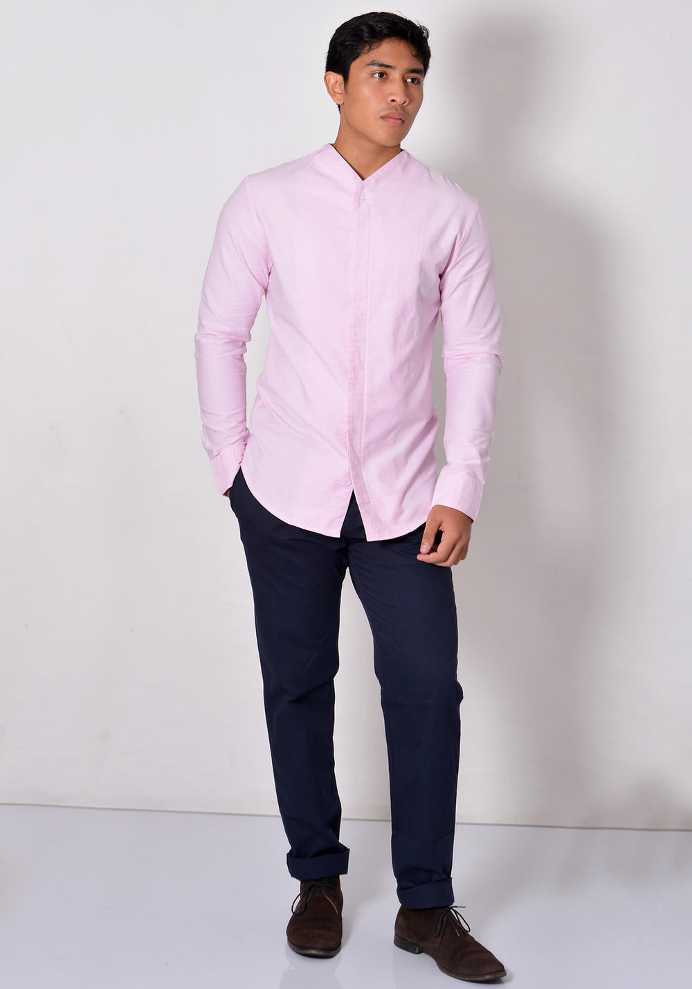 LONG SLEEVED SHIRT WITH V NECK