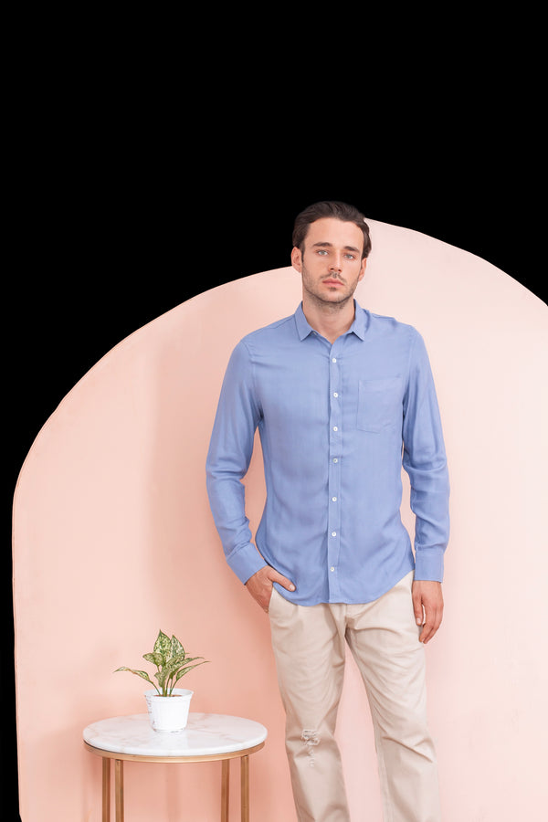 Long Sleeved Regular Collar Shirt