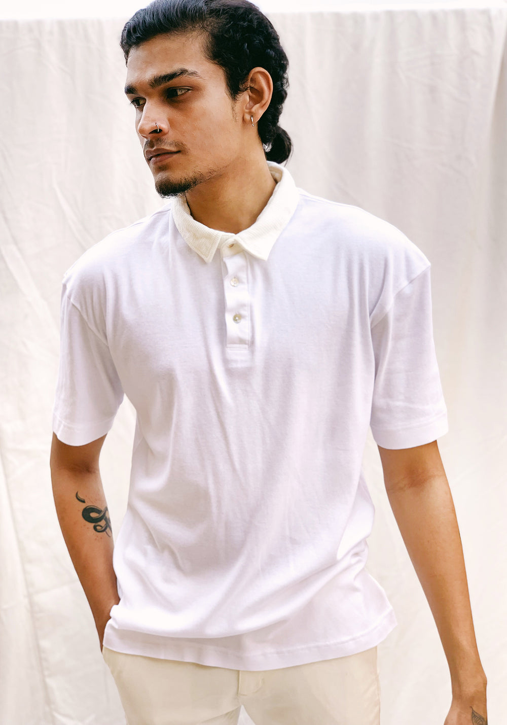 RELAXED FIT POLO JERSEY SHIRT