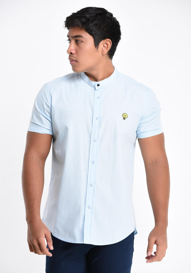 SHORT SLEEVED EMBROIDERY SHIRT