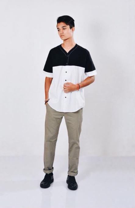 Short Sleeve Baseball collar Shirt