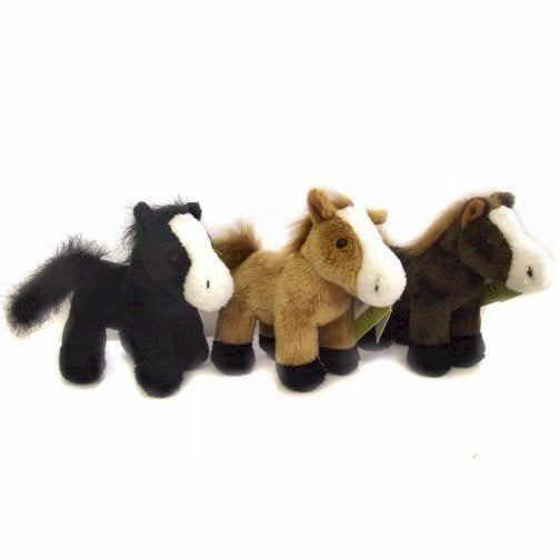 13cm Horse Cuddly Plush Toy with a choice of 3 colours