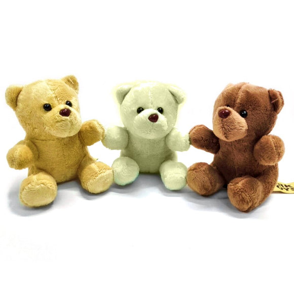 13cm Teddy Bear Cuddly Toy available in 3 colours