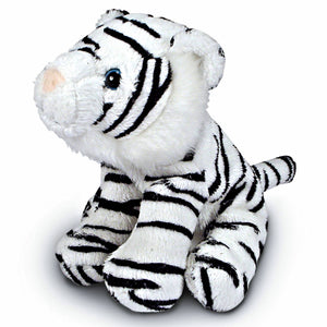 13cm White Tiger Cuddly Plush Toy, suitable for all ages