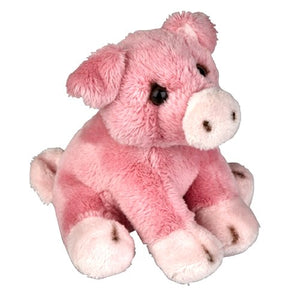 13cm pink pig cuddly plush farm soft toy suitable for all ages