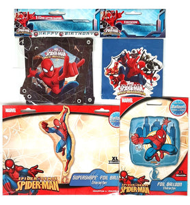 Spider-Man Party Pack with Balloons, Invites and Banner