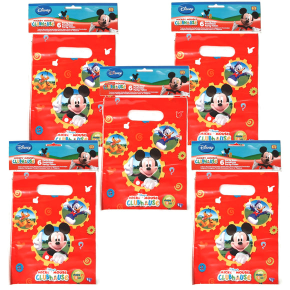A Pack of 30 Mickey Mouse, Mickeys Club House Party Favor Bags
