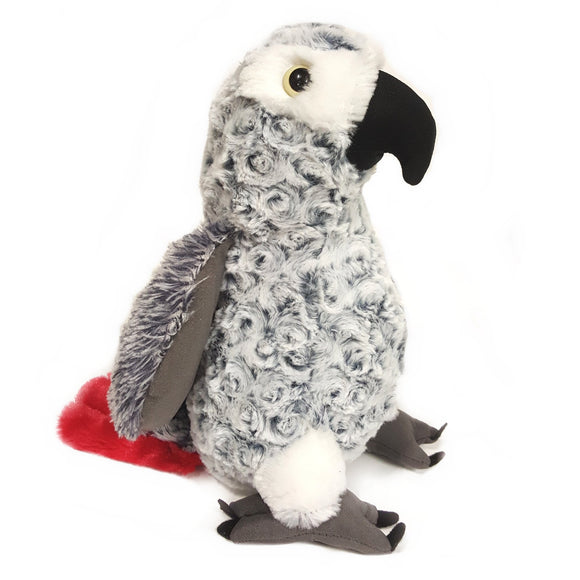 30 cm Grey Parrot Cuddly plush Soft Toy Suitable for All Ages