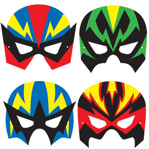 Children's Super Hero Face Masks for Fancy Dress and Party Bags