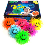 Box of 12 Smiley Puffer Ball Squeeze Toy Fundraising Pack Party Bag Filler Favor