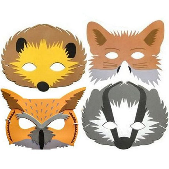 Children's Woodland Animal Foam Face Masks for Party Bags and Fancy Dress