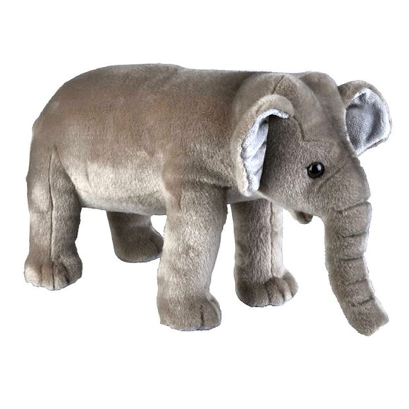 This large Elephant cuddly plush toy measures 50 cm and is suitable for all ages.  CE tested and certified and made from high quality materials delivering you a superb product that will be cherished for years.  The super soft huggable filling in this toy is made from recycled PET.