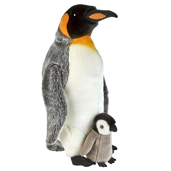 King Penguin With Chick Cuddly Plush Soft Toy
