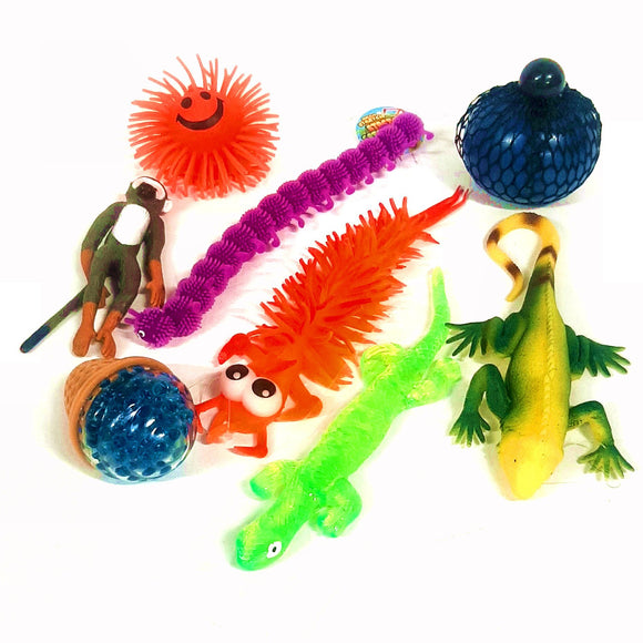 8pc Squeezy Stretchy Sensory Toy Pack