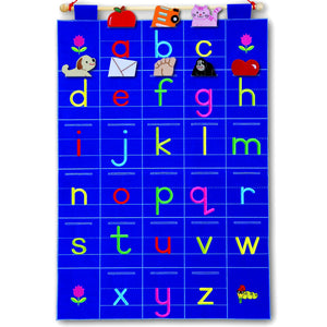 Large Fabric ABC Chart, learning resource with detachable pieces