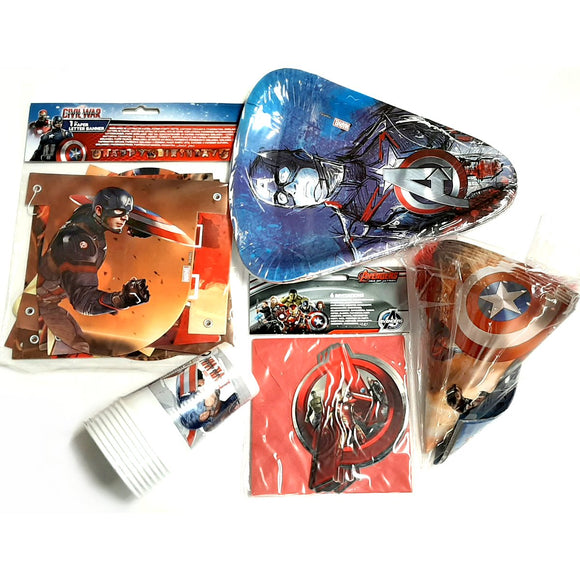 Marvel Avengers Party Pack Tableware and Decorations