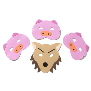 Three Little Pigs Story Time Children's Face Mask Set