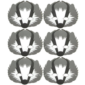 6 Badger Foam Children's masks ideal for schools, theaters, groups and parties