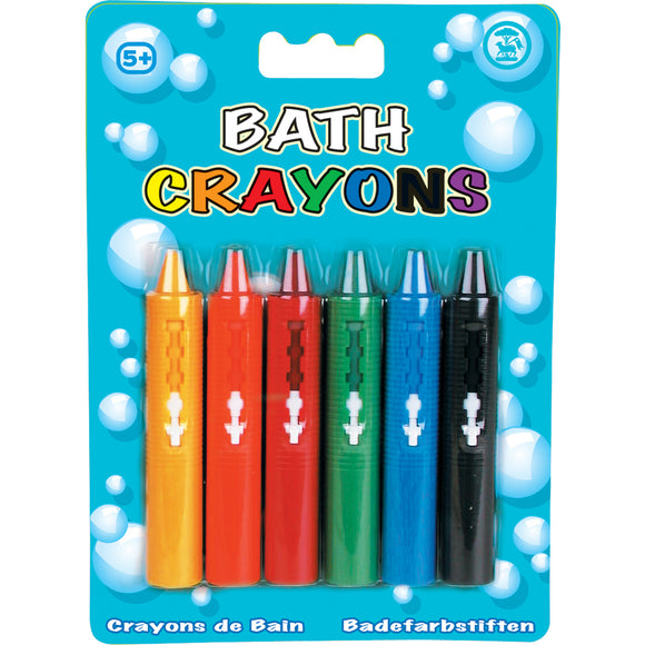 Set of 6 Washable Bath Crayons Bath Time Toys