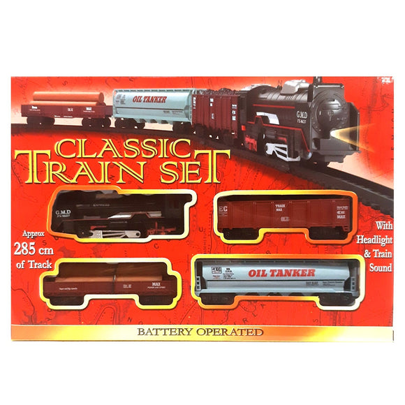 Classic Battery Operated Retro Train Set Toy