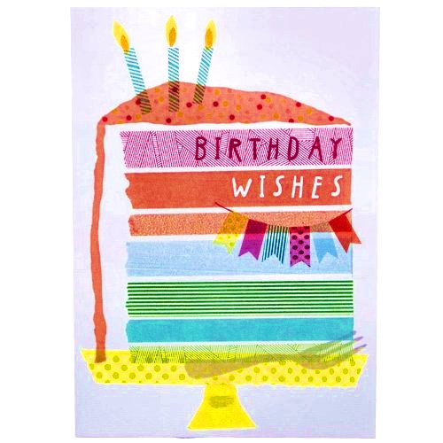 Birthday Wishes Cake design Hallmark Greetings card