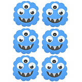 6 Blue Monster Foam Halloween Masks ideal for schools, parties, groups and theaters