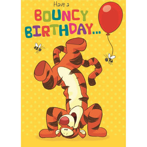 Bouncy Birthday Tigger Greetings Card by Hallmark