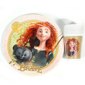 Disney Pixar Brave Tableware Pack for 16 People - Plates and Cups