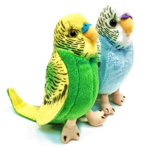13cm Budgie Budgerigar Cuddly Soft Toy Choose from Blue or Green