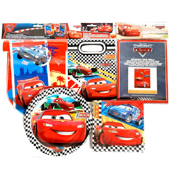 Disney Cars Party Pack Tableware and Decorations