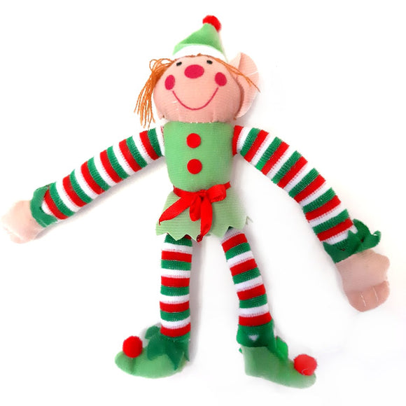 Christmas Elf with a green hat and Velcro hands with worldwide shipping