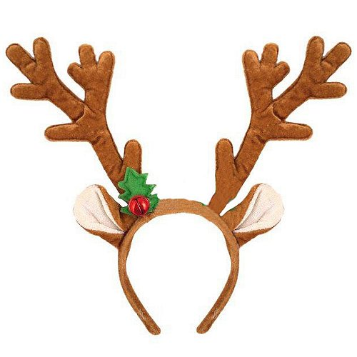 Delux reindeer Antler Headbands with Bell, choice of quantities, perfect for schools, offices and carol signing