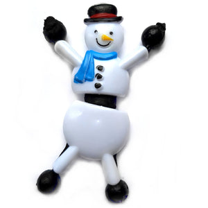 Tumbling Sticky Snowman Christmas Stocking Filler Toy