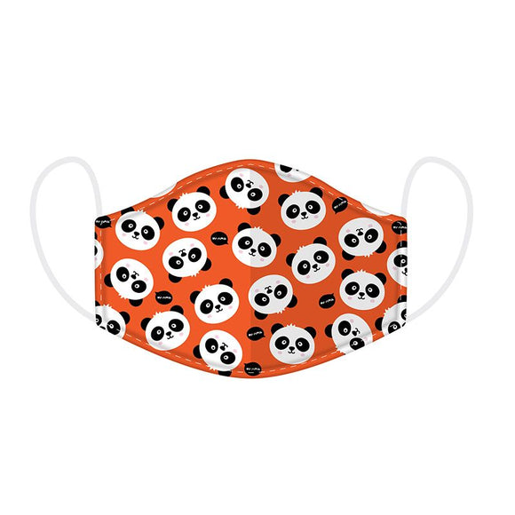 This Age 4 to 12 size  2 layer face mask covering is in a fun Panda design.  Rough Size age 4 years old to 12 years old. 20 cm x 11 cm