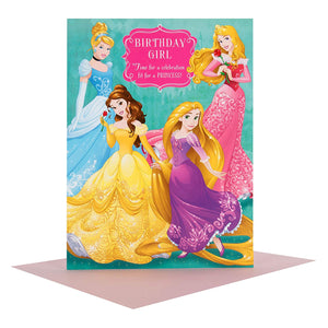 Hallmark Large Disney Princess Birthday Greetings Card