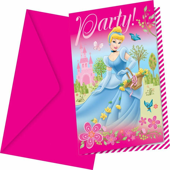 Disney Princess Party Invites with Envelopes