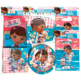 Doc McStuffins party Pack for 8 People