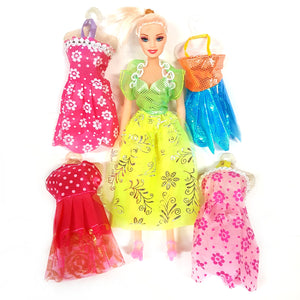 Fashion Doll Toy with 4 extra dress's