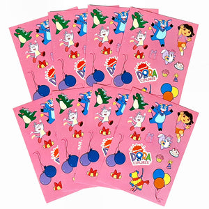 32 Dora the Explorer Sticker Sheets for Party Favour's and Party Bags