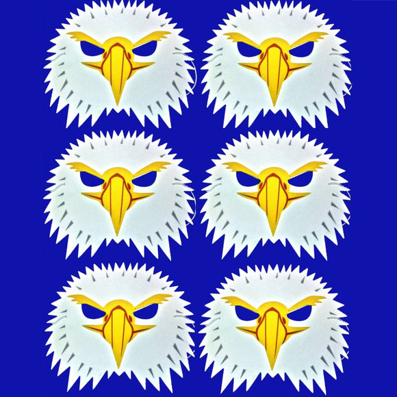 6 Eagle Foam Children's masks ideal for schools, parties, theaters and groups
