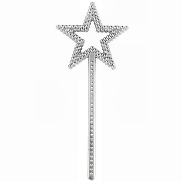 18cm Fairy Wand Pocket Money Toy Party Favor in Silver.