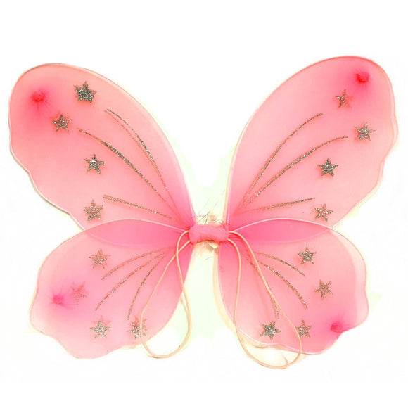 Pink Fairy Wing Dress Up Set
