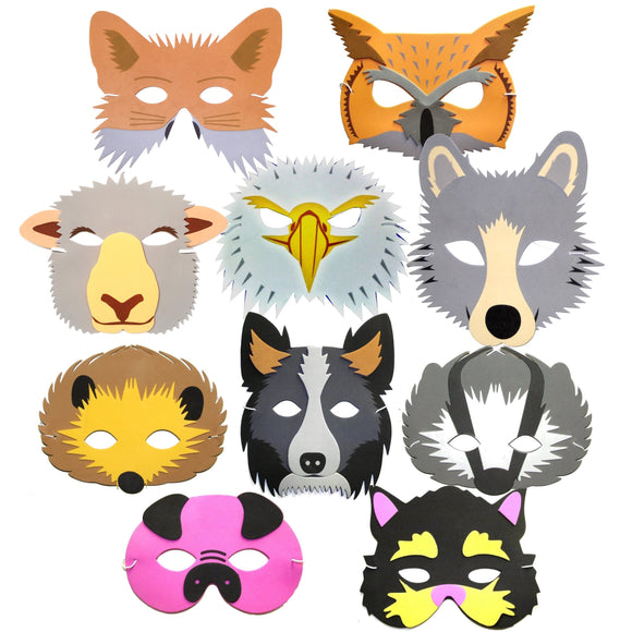 Farm and Woodland Animal Children's Face Masks For Party Masks and Story Telling