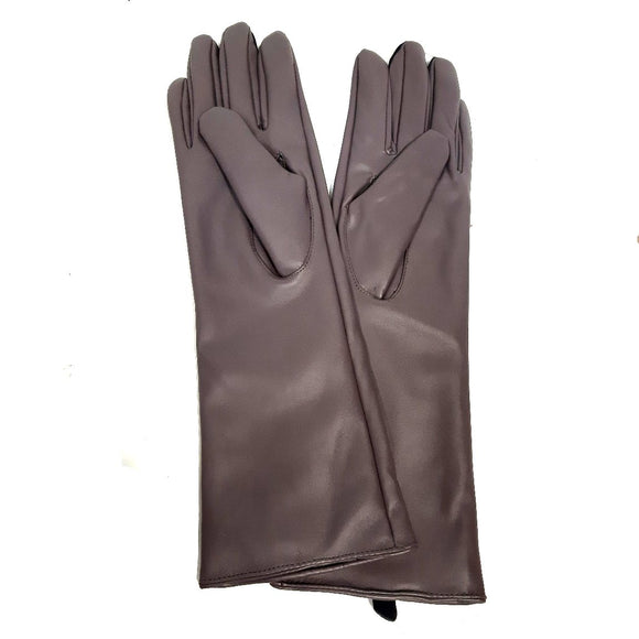Womens Ladies Long Gloves Faux Leather Look