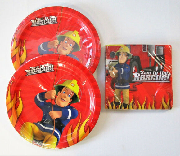 Fireman Sam Party Tableware Pack for 16 People