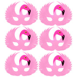6 Flamingo Children's foam fancy dress masks