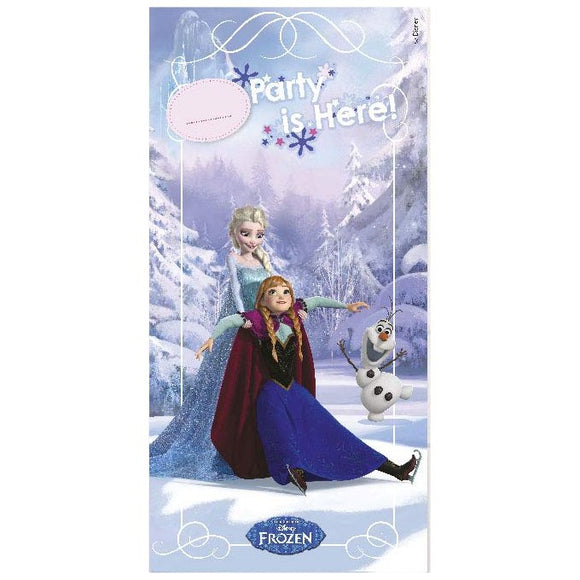 Disney Frozen Ice Skating Door Banner Party Decoration