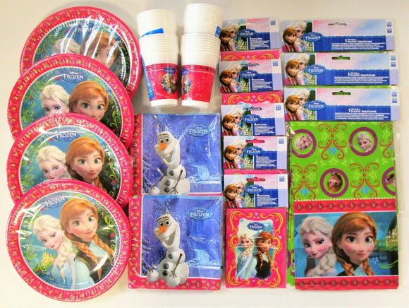 Disney Frozen Party Supplies Pack Tableware and Party Invitations