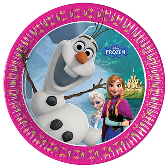40 Disney's FROZEN Snow Queen Plates - Children's Party 20cm