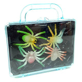 Glow in the Dark Spider Toys in carry case